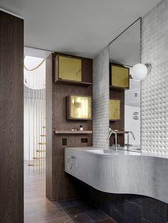 Buchhaus von Luigi Rosselli Architects in Mosman, Australien - Dekoration De Luigi, Modern Bathroom, Small Bathroom, Bathroom Ideas, Bathrooms Decor, Decorating Bathrooms, Design Bathroom, Bath Decor, Bathroom Remodeling