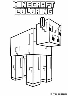 printable minecraft coloring cow - Printable Minecraft Coloring Pages