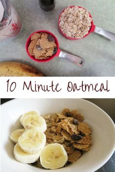 Easy Oatmeal bowl. #SpoonfulsOfGoodness #CerealAnytime #ad Easy Meals For Kids, Quick Easy Meals, Kids Meals, Quick Recipes, Other Recipes, Breakfast Lunch Dinner, Breakfast Recipes, Lunches And Dinners, No Cook Meals