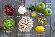 This classic CHICKEN WALDORF SALAD is all about the interesting combination of fruit, vegetable, nuts and chicken tossed in a tangy dressing. Waldorf Chicken Salad, Greek Chicken Salad, Waldorf Salad, Best Salad Recipes, Cucumber Recipes, Chicken Salad Recipes, Party Recipes, Delicious Recipes, Dinner Recipes