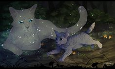 """""""You are Cinderheart. This is your destiny. StarClan chose to let you live again"""" Art by GoldenDragonart"""