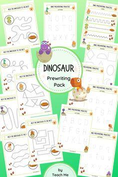 Dinosaur Activities, Dinosaur Crafts, Cute Dinosaur, Reading Activities, Craft Activities For Kids, Hands On Activities, Crafts For Kids, Play Based Learning, Preschool Learning
