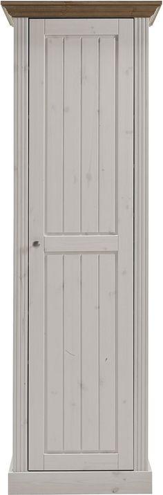 In folgenden Farben erhältlich:  Korpus/Front: Weiß/grau, Holzstruktur sichtbar,  Details:  1 Tür, Türanschlag wechselbar, 8 herausnehmbare Einlegeböden, 1 Kleiderstange, Platz für ca. 16 Paar Schuhe, Pflegeleichte Oberfläche, FSC®-zertifiziert,  Material:  FSC®-zertifiziertes Massivholz: Kiefer, Griffe, Scharniere und Laufleisten aus Metall, Kleiderstange und Haken aus Metall,  Informationen z...