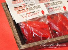 This item is unavailable Valentines For Daughter, Teacher Valentine, Happy Valentines Day, Valentine Ideas, Fish Candy, Food Tent, Owl, Candy Bags, Party Favors