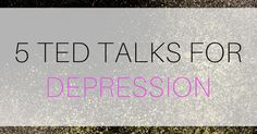 I went down the rabbit hole of TED talks again and I thought I would share these awesome TED talks about depression. These aren't all uplifting but sometimes you need to hear some realness. Positivety kind of feels like a big pile of garbage when you're depressed anyways (if you've ever tried to...