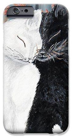 Iphone cases design unique - featuring painting Cats Lovde. #phonecases