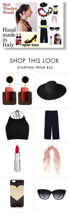 """""""Red Wooden Beads"""" by hearthfashion on Polyvore featuring moda, Marni, Dorfman Pacific, River Island, Theory, Givenchy, Valentino, J.Crew, Elizabeth and James e Mismo"""