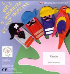 pirate finger puppets - pearlmason - Finger & Hand Puppers - Toys - DaWanda