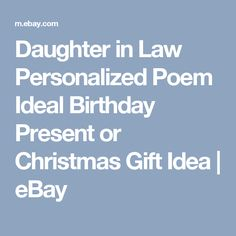 Daughter-in-law personalized poem ideal birthday present or ...