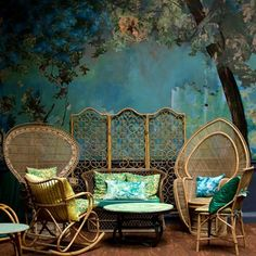 Discover wall mural design ideas on HOUSE - design, food and travel by House & Garden. The Glade room at London restaurant Sketch is a dreamy forest landscape.