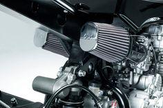 A textbook modern-day cafe racer: Honda CB750 by Rebellion Motorworks of Spain.