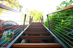 Stairs: Palisades House in California by Studio Shift Architects in architecture Category Outdoor Handrail, Outdoor Stairs, Bbq Area, Diy Shower, Martha's Vineyard, Tropical Landscaping, California Homes, Railings, Architect Design