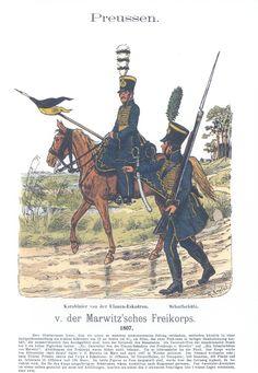 Vol 17 - Pl 41 - Preußen. v. d. Marwitzsches Freikorps 1807. Karabinier. Scharfschütz.