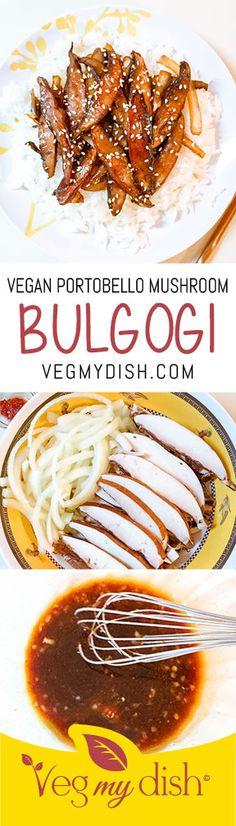 Vegan Portobello Mushroom Bulgogi