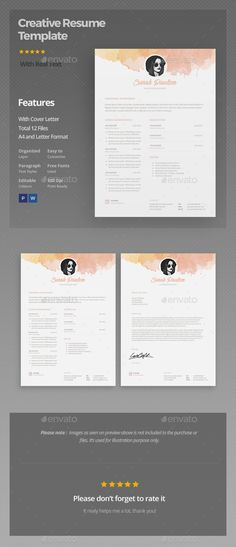 Resume Template Download http\/\/graphicrivernet\/item\/resume - professional resume template download