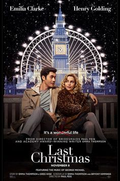LAST CHRISTMAS Trailer + Poster A romantic comedy inspired by a George Michael beat stars Emilia Clarke, Henry Golding, Michelle Yeoh, Emma Thompson Michelle Yeoh, Emma Thompson, George Michael, Movies To Watch, Good Movies, Films Hd, Film Streaming Vf, Film Disney, Kino Film
