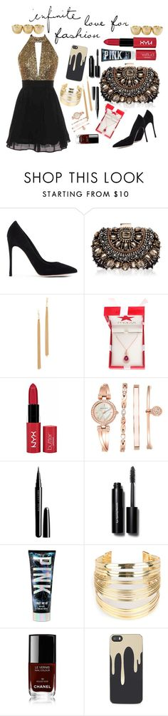"""""""forever#a#fashion#lover"""" by alexa-860 ❤ liked on Polyvore featuring Gianvito Rossi, Lipsy, Jules Smith, Effy Jewelry, NYX, Marc Jacobs, Bobbi Brown Cosmetics, WithChic, Chanel and Zero Gravity"""