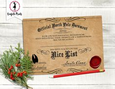 Image result for nice list certificate free printable elf on a nice list certificate santa certificate letter from santa elf report editable spiritdancerdesigns Image collections