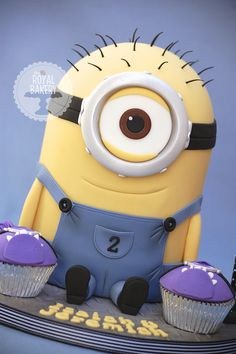 - Kevin the Minion with purple Minion domed cupcakes. Ryan is demanding that the Minion be Pinned.