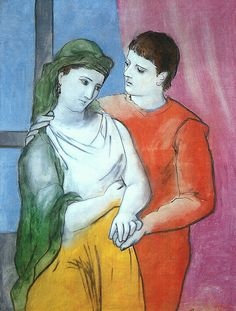 Pablo Picasso- The Lovers. This has been one of my favorite paintings for many years now.