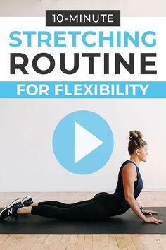 Stretching Routine For Flexibility, Stretch Routine, Flexibility Exercises, Improve Flexibility, How To Get Muscles, Postpartum Workout Plan, Body Stretches, Stretches For Quads, Short Workouts