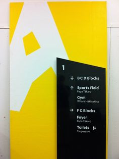 Wayfinding for Wellington High School by Matt Innes, via Behance