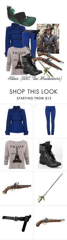 """Athos (BBC The Musketeers)"" by jessieyb ❤ liked on Polyvore featuring Therapy, CIMARRON, Pull&Bear, Not Rated, HUGO and ASOS"
