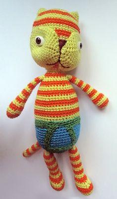 Knitted Cat — Вязаный Кот (15sm)