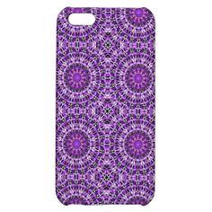 Fly Away Purple -mandala pattern 2- iPhone 5C Case