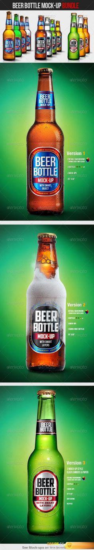 GraphicRiver - Beer Bottle Mock-Up Bundle - 4629011