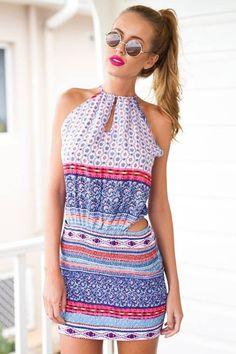 Vestido Casual com Abertura na Cintura - Compre Online   DMS Boutique