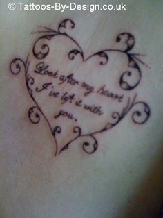 look after my heart tattoo