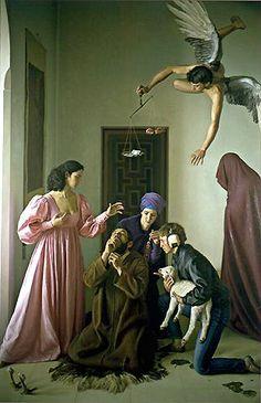 A605   Claudio Bravo   Temptation of St Anthony   1984   Painting   Oil on canvas   Museo Nacional de Bellas Artes   Santiago, Chile