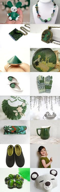 green collection by Tubidu on Etsy--Pinned+with+TreasuryPin.com