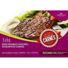 Listos para nuestra Noche de Carnes!! #Umm #Nabú #CrownePlazaStyle