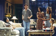 Much to the gang's chagrin, Chandler (Matthew Perry) starts smoking again.