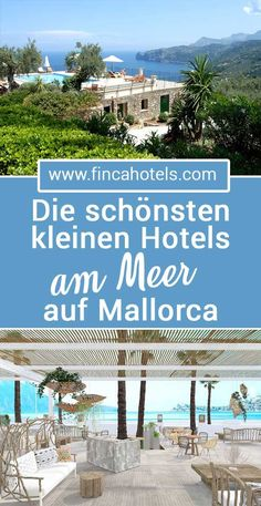 Majorca – small hotels by the sea: We have for a … – Mallorca – kleine Hotels am Meer: Wir haben für … – Hotel Mallorca, Mallorca Beaches, Restaurant Mallorca, Italy Vacation, Vacation Trips, Hotel Am Strand, Hotel Am Meer, Travel Destinations, Bucket List Travel