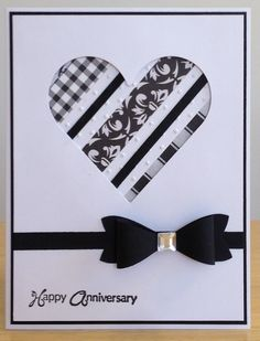WT590 - Anniversary Card by jenn47 - Cards and Paper Crafts at Splitcoaststampers (Pin#1: Mono: Black+White. Pin+: Peek-A-Boo; Valentines: SU (Hearts...).
