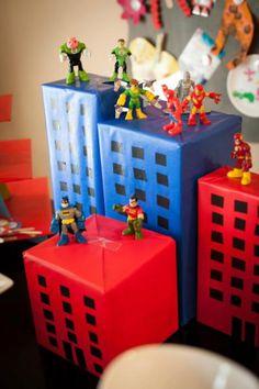 Superhero buildings as decor