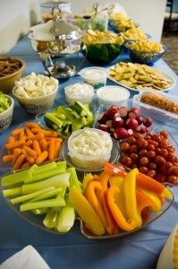 I have a portable tray and would love to put together a veggi/crudite platter with dips like this. Healthy, easy and affordable.