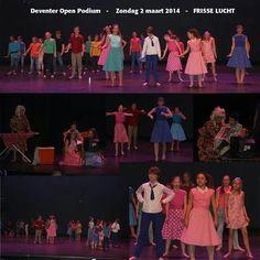 Open Podium 2 maart 2014. In de Deventer schouwburg.  Musical Frisse Lucht.