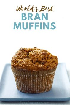World's Best Bran Muffins is not a title to be taken lightly. Once you taste these, you'll call them by no other name! You will want to eat them for breakfast, lunch and dinner! Banana Bran Muffins, Breakfast Muffins, Bran Muffins With Raisins, Mini Muffins, Applesauce Muffins, Carrot Muffins, Cranberry Muffins, Cinnamon Muffins, Lemon Muffins