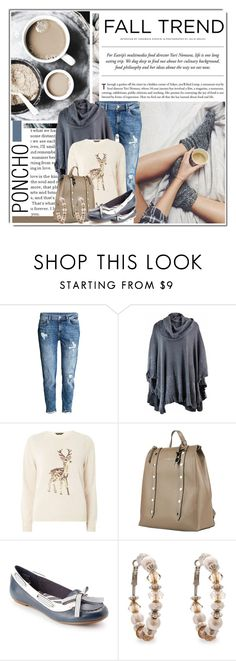 """Fall Poncho (1)"" by queenrachietemplateaddict ❤ liked on Polyvore featuring H&M, Dorothy Perkins, Tru Trussardi, Sperry and Erica Lyons"