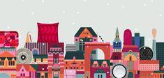 Marimekon joulukaupunki - Meistä - Marimekko.com Lotta Nieminen, Work In New York, Christmas 2015, Merry Christmas, Marimekko, Bold Prints, Danish Design, Warm Colors, Scandinavian Design