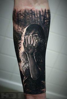 Realistic forearm tattoo-600