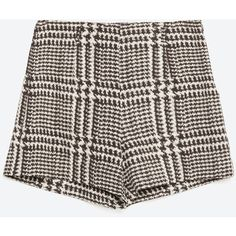 Zara Checked Bermuda Shorts ($30) ❤ liked on Polyvore featuring shorts, bottoms, bermuda shorts, checkered shorts and zara shorts