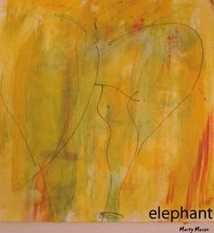 sketch on watercolor paper.....elephant