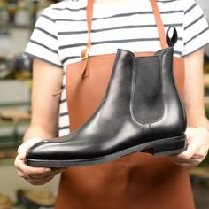 FUR-LINED CHELSEA BOOTS 80216 RAIN (INCL. SHOE TREE) Gentleman Shoes, Shoe Tree, Goodyear Welt, Man Fashion, Chelsea Boots, Take That, Rain, Nyc, Places