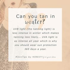Can you get a tan through a window? Do you need to wear sun protection inside? Is your skin safe from UV damage when it's winter? All the answers you need to know for yourself, wether suncream is essential 365 days a year... http://wp.me/p6LuQS-17E