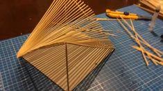 Concept Models Architecture, Architecture Design, Toothpick Sculpture, Pavillion Design, Popsicle Art, Middle School Art Projects, Origami Architecture, Concrete Interiors, Nail String Art